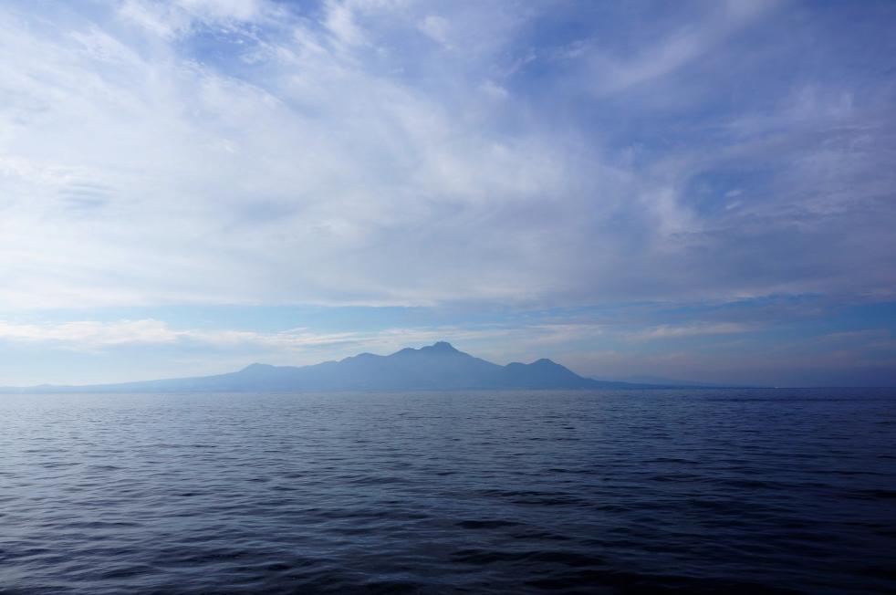 宇土マリーナから臨む島原方面