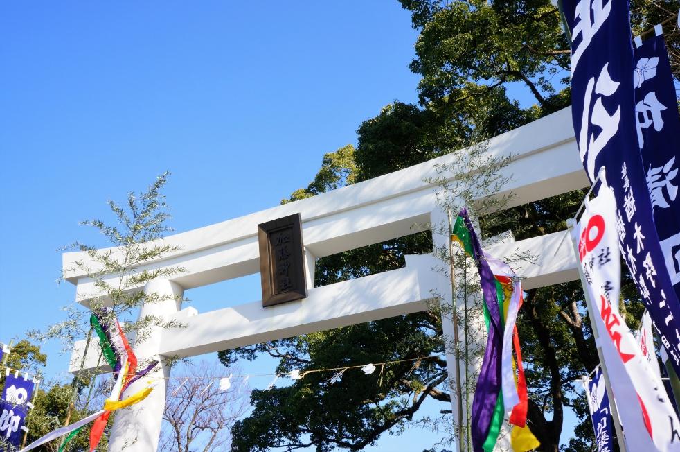 加藤神社の白い鳥居