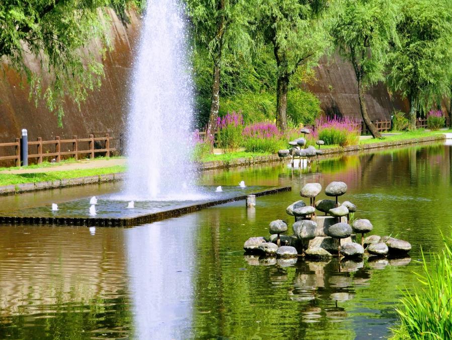 高森湧水トンネル公園 噴水
