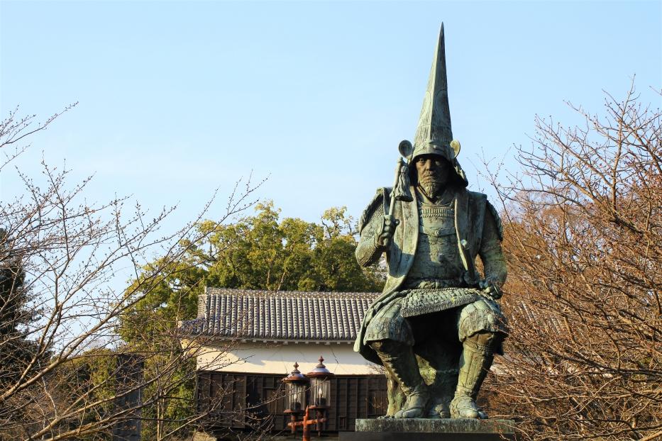 行幸橋の加藤清正公像