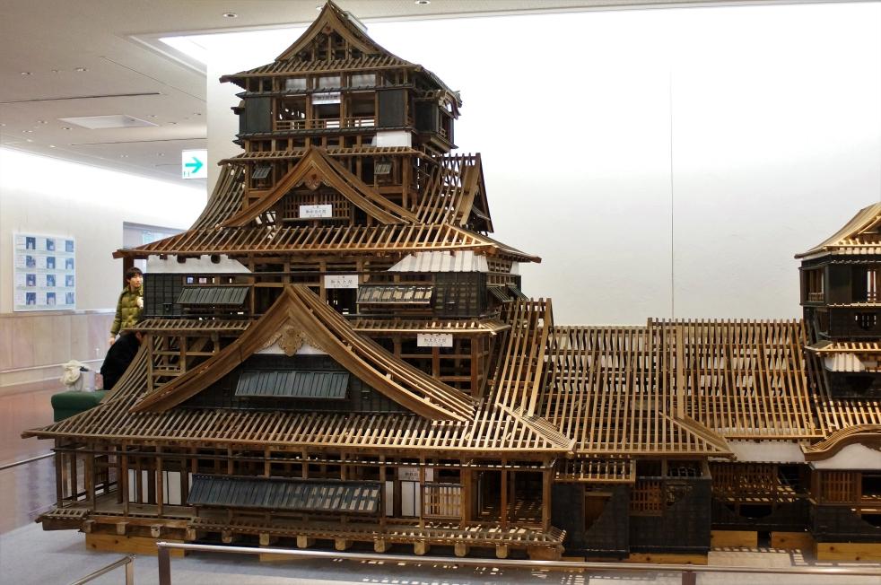 熊本城天守閣 木軸模型