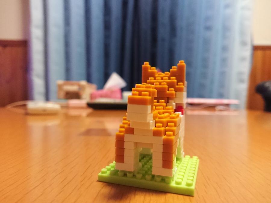 ダイソー プチブロック 柴犬