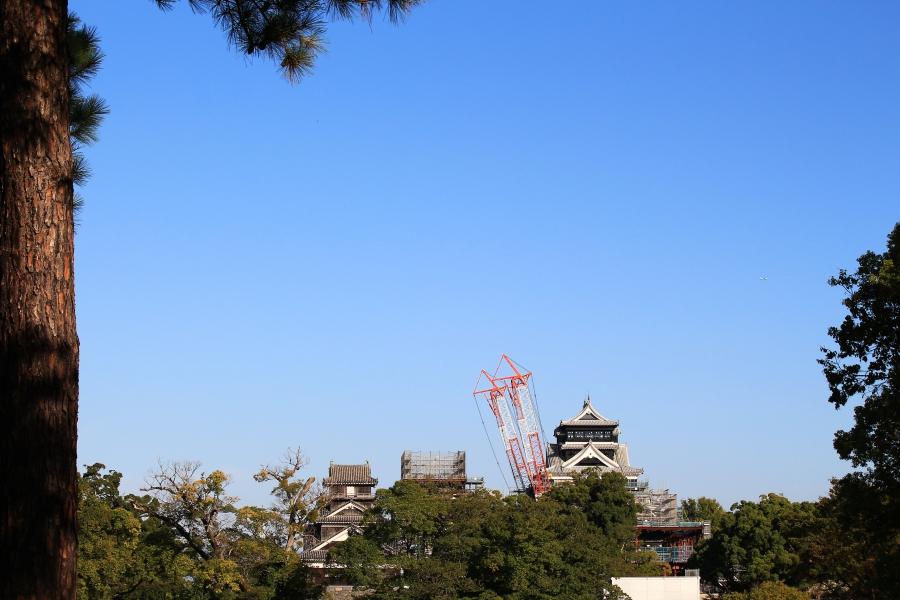 熊本城 そらくんカートでお散歩