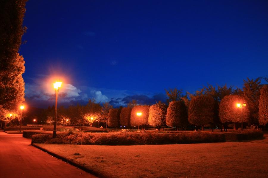 夜の熊本テクノリサーチパーク