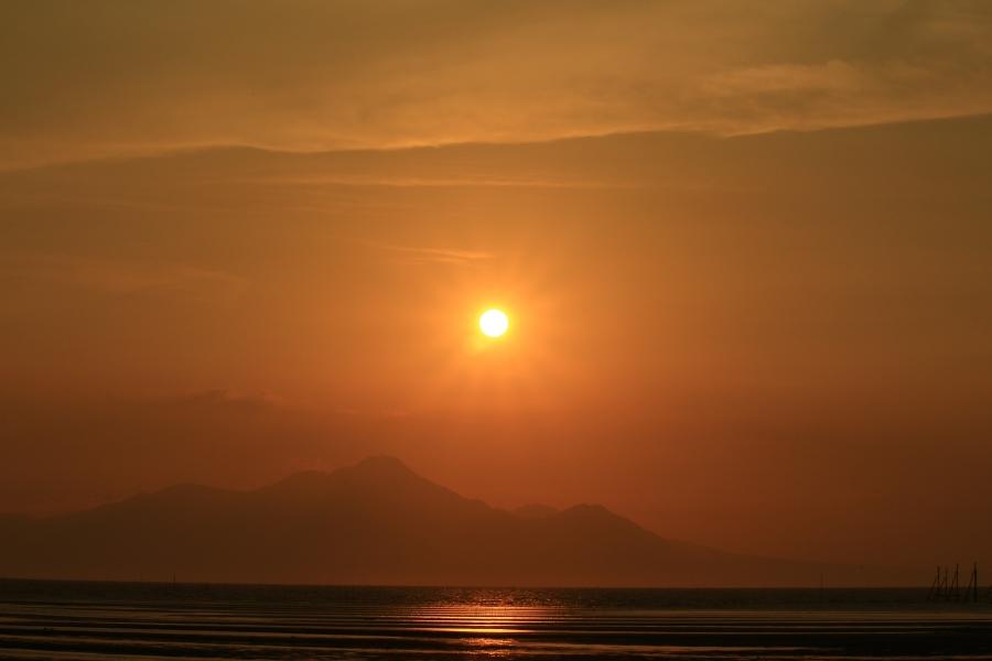 住吉海浜公園 夕陽